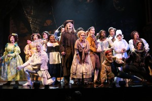 Cast of Into the Woods stands in costume at Ford's Theatre.