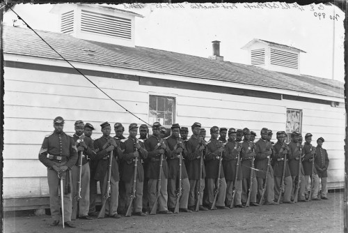 United States Colored Troop, Soldiers at Fort Lincoln, November 17, 1865.  Photo Courtesy of Library of Congress.
