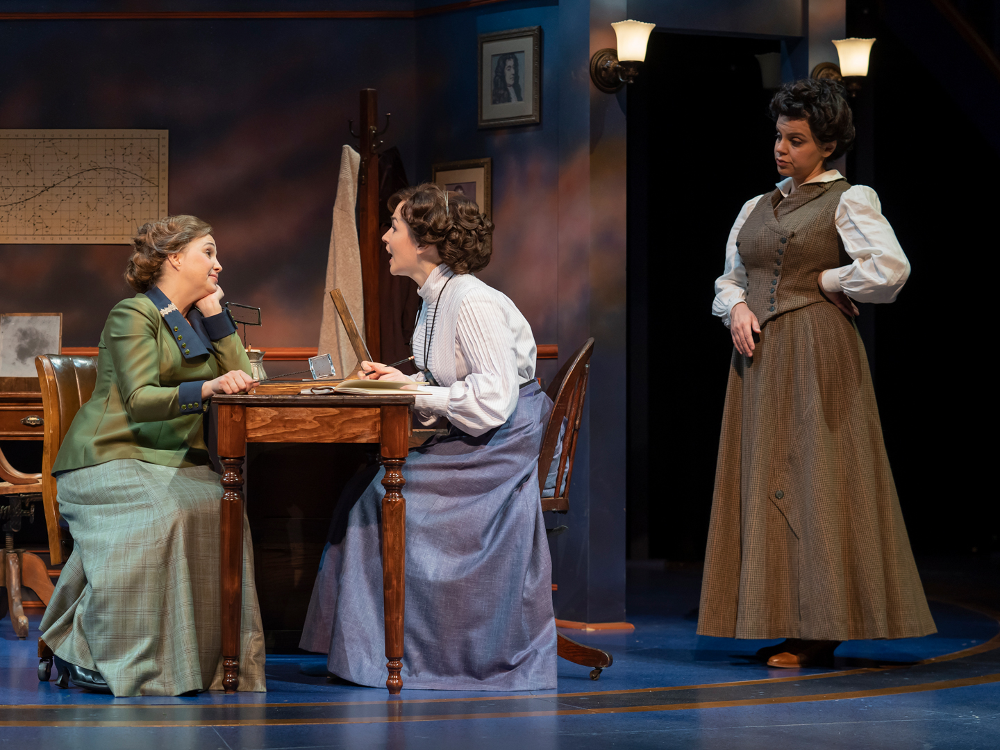 Holly Twyford, Laura C. Harris, and Nora Achrati in Silent Sky at Ford's Theatre