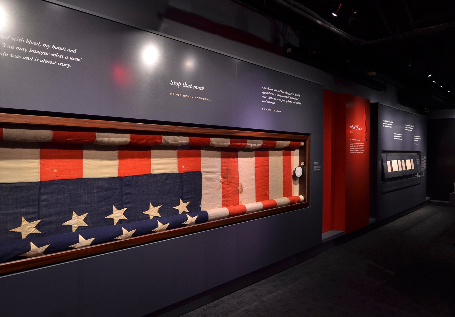 Treasury guard flag on display at the Center for Education and Leadership.